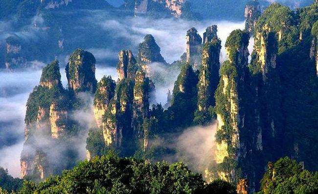 Места Китая, закрытые от посторонних Китай Парк Чжанцзяцзе1