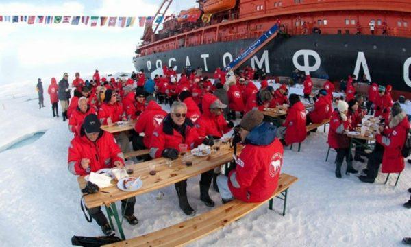 Путешествие на Северный полюс на ледоколе 50 Лет Победы