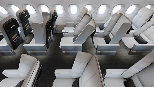Новый дизайн с «крыльями» для кресел эконом-класса в самолете1