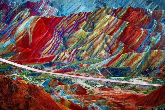 Радужные горы Китая