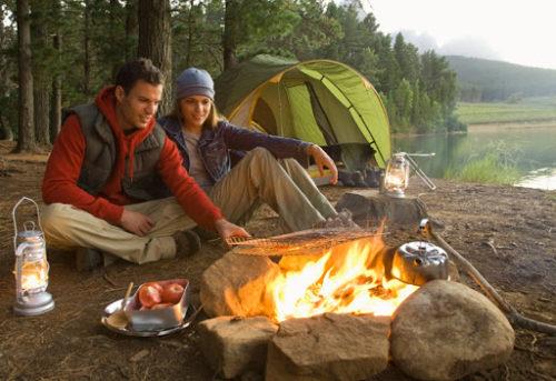 отдых на природе с палатками